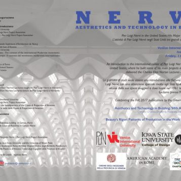 On the 11th of November 2016, in Venice, an International Workshop Dedicated to Pier Luigi Nervi and the United States